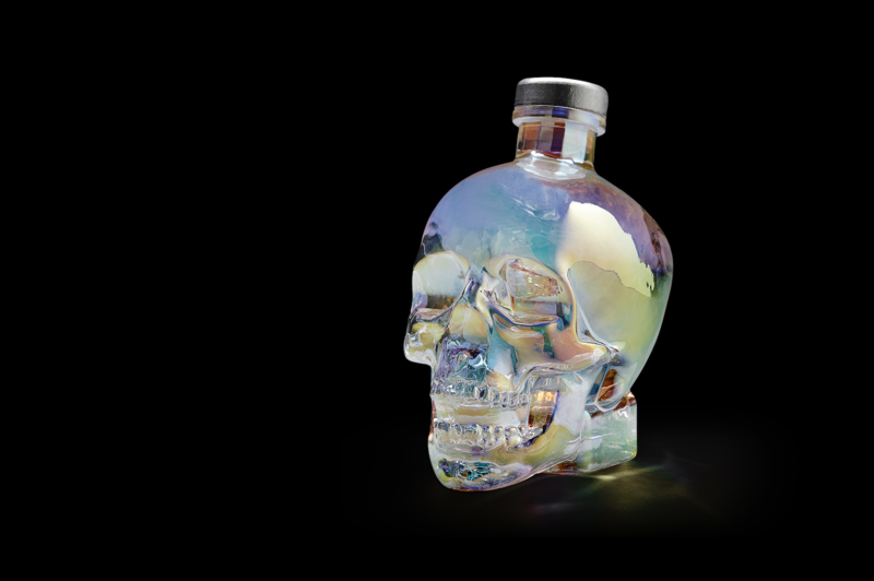 The Crystal Head Aurora bottle and gold medalist recipient of Buyers' Forum Frontier Awards.
